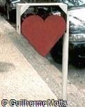 Lixeira em forma de coração