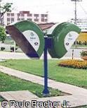 Telefone público orelhão Telepar duplo