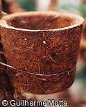 Vaso em fibra vegetal