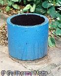 Lixeira em concreto pré-moldado