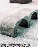 Banco em concreto pré-moldado