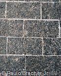 Piso de pedra retangular