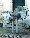 Telefone público Telemar cilíndrico