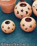 Luminárias esféricas de cerâmica