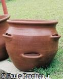 Vaso  furado de argila
