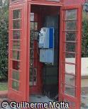 Telefone público cabine vermelha