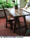 Escrivaninha em madeira rústica