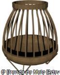 Lareira Externa Lenha - Firepit 45cm